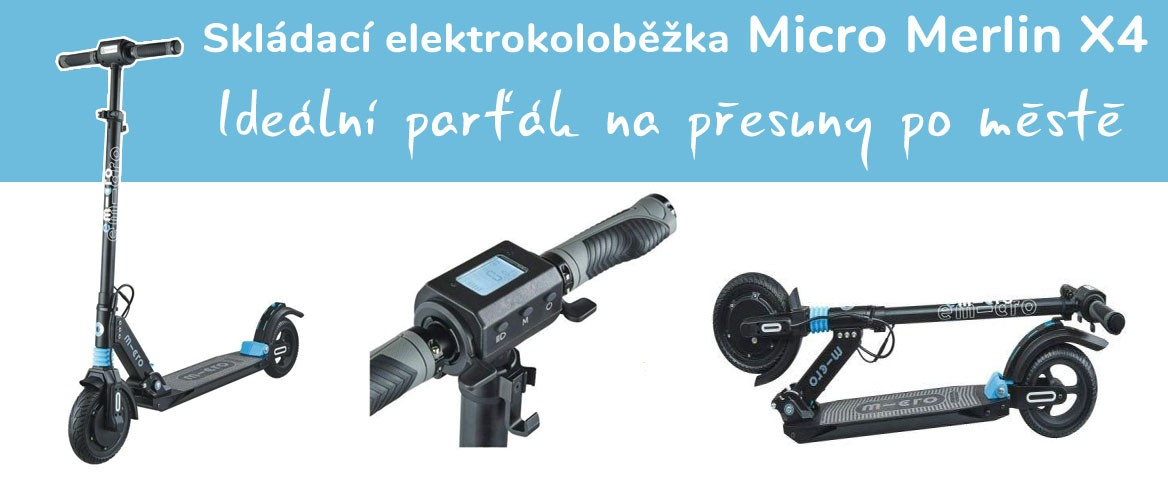 Elektrokoloběžka Micro Merlin X4